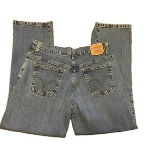 Levi 550 relaxed boot cut 14 short faded jeans
